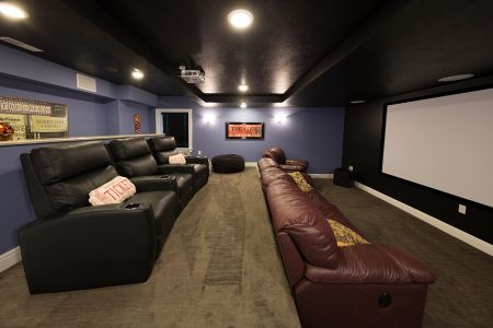 Basement Media Room - Best Green Energy Award